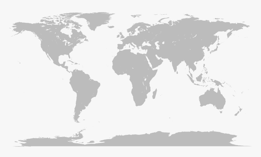 Map Of The World No Borders, HD Png Download, Free Download