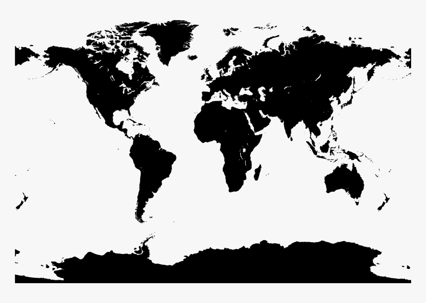 World Map Vector Map - World Map Black And White Vector Png, Transparent Png, Free Download