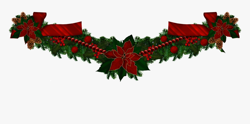 Garland, Christmas Wreaths, Christmas Swags, Holiday - Transparent Transparent Background Christmas Garland, HD Png Download, Free Download