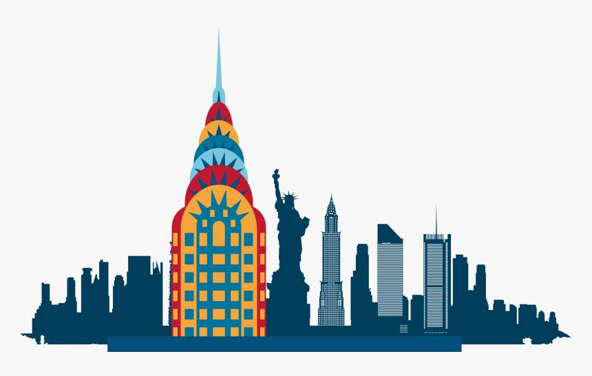 New York City Skyline Silhouette Illustration New York Skyline Icon Hd Png Download Kindpng