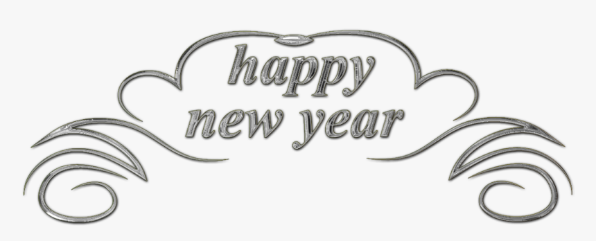 Happy New Year Png Text, Transparent Png, Free Download