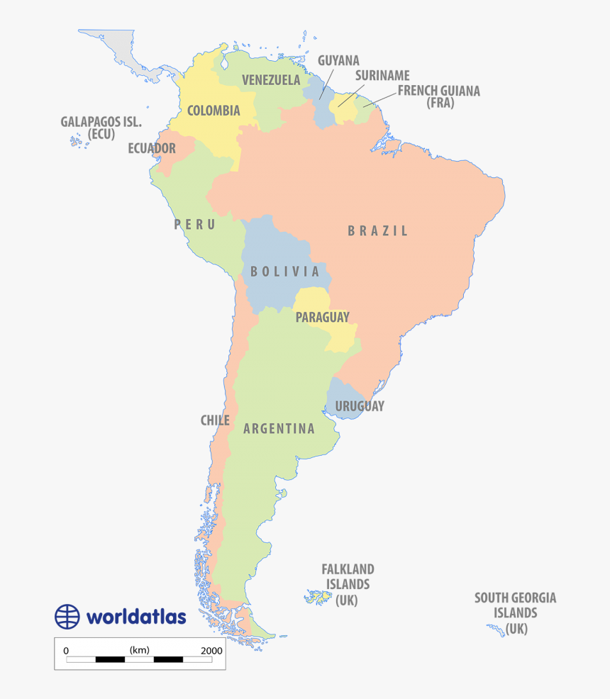 Political Map Of South America Latin America Physical Map