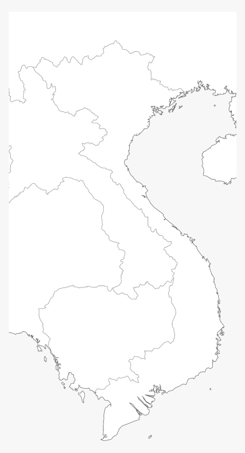 Transparent Vietnam Map Png - Blank Map Of Thailand Vietnam, Png Download, Free Download