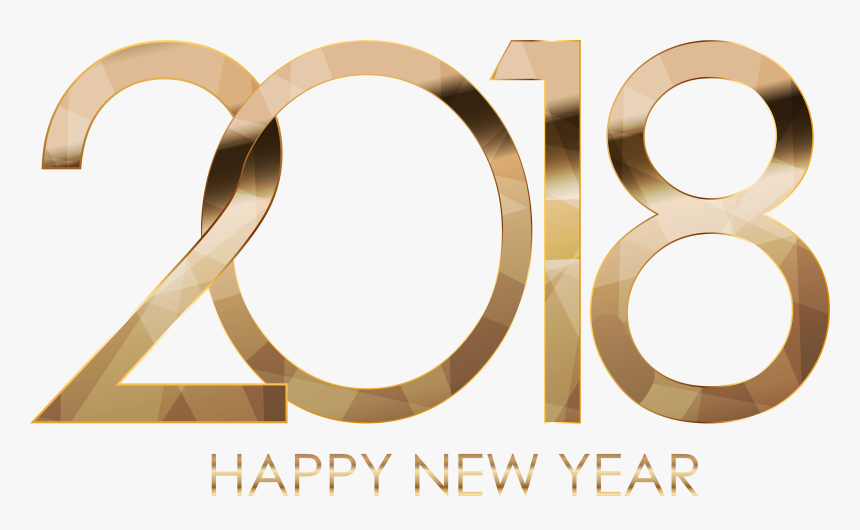 2018 Happy New Year Gold Png Download - Happy New Year Chick Fil, Transparent Png, Free Download