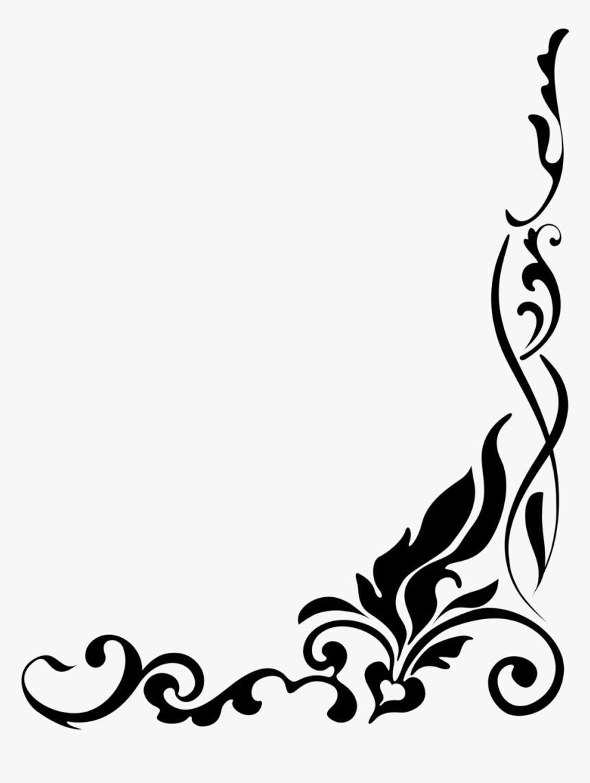 Gold Wedding Border Png - Flower Border Black And White Png, Transparent Png, Free Download