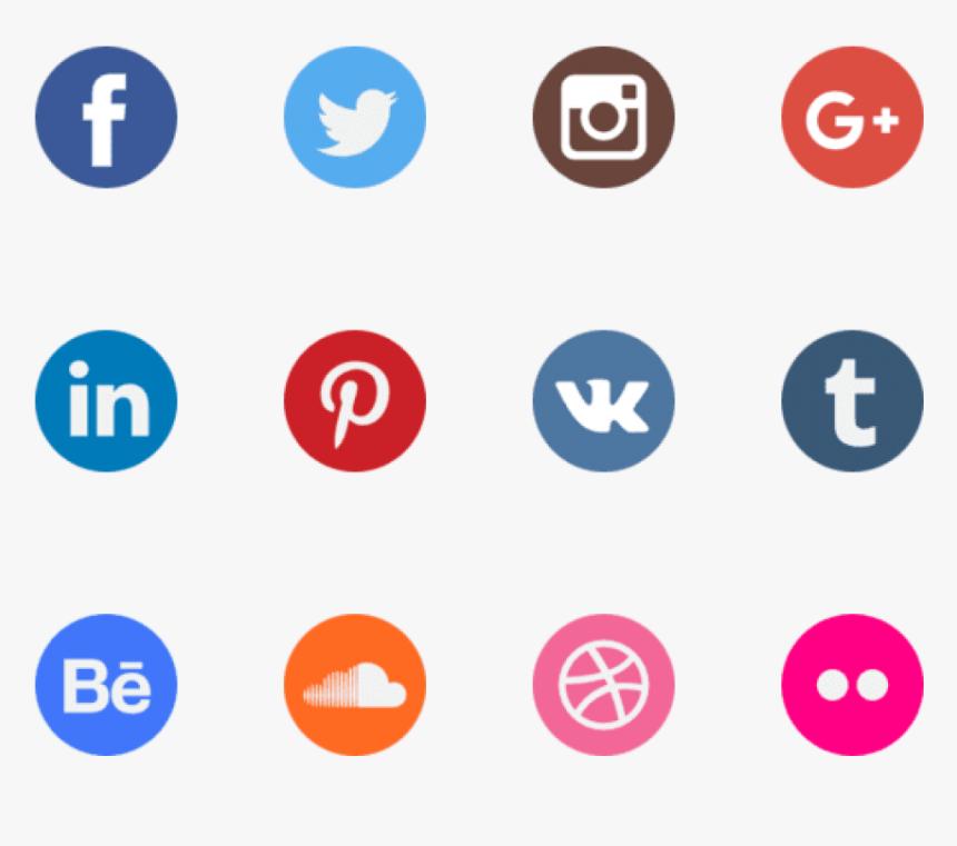 Social Media Icons Png Transparent - Logo Social Media Png, Png Download, Free Download