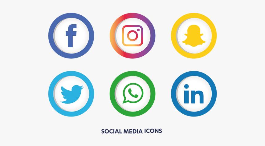 Clip Art Icon Social Media - Transparent Social Media Png, Png Download, Free Download