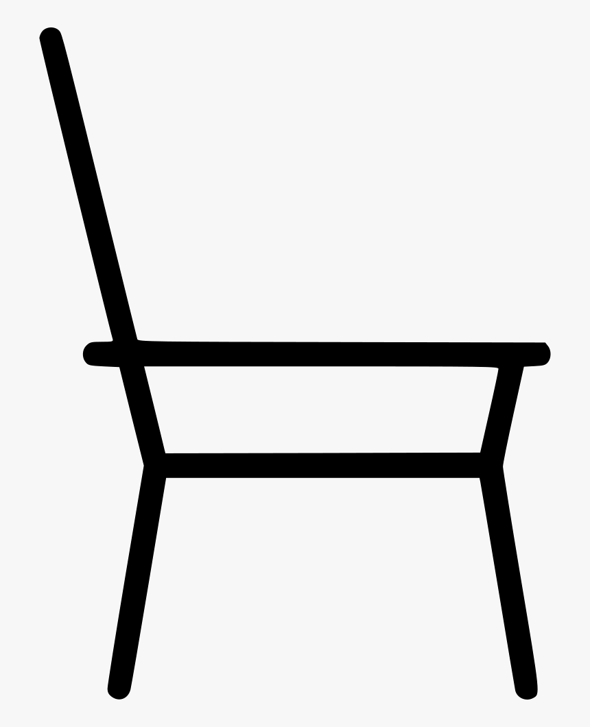 Chair Simple Sketch Furniture Home - Simple Chair Icon Png, Transparent Png, Free Download