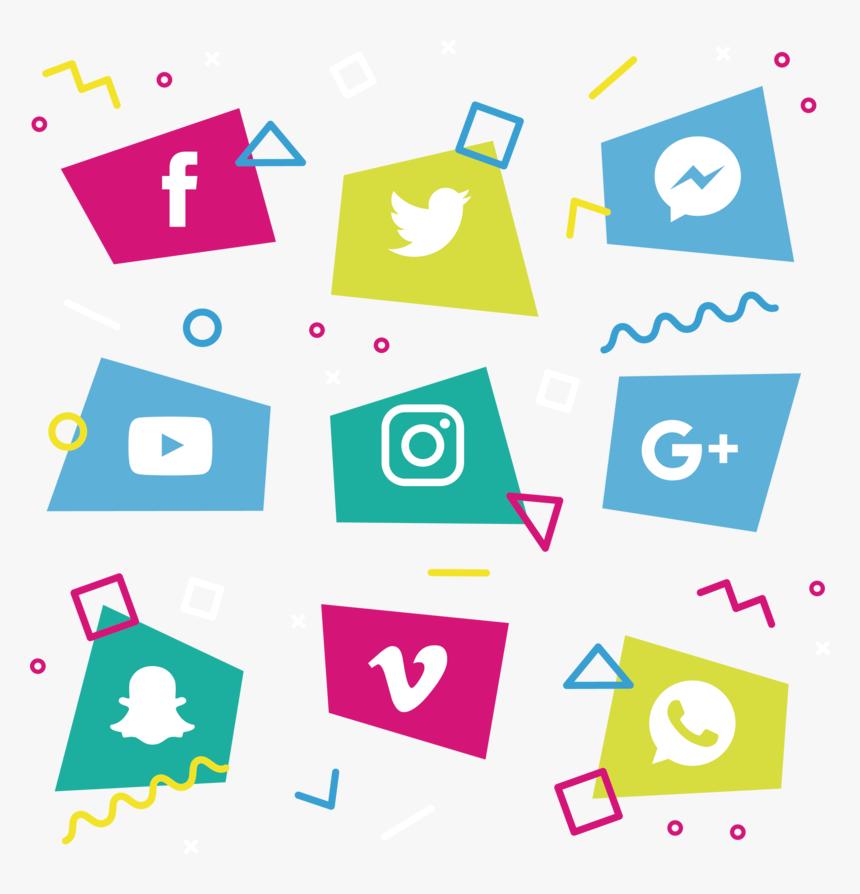 Transparent Geometry Clipart - Social Media Icons Transparent Free, HD Png Download, Free Download