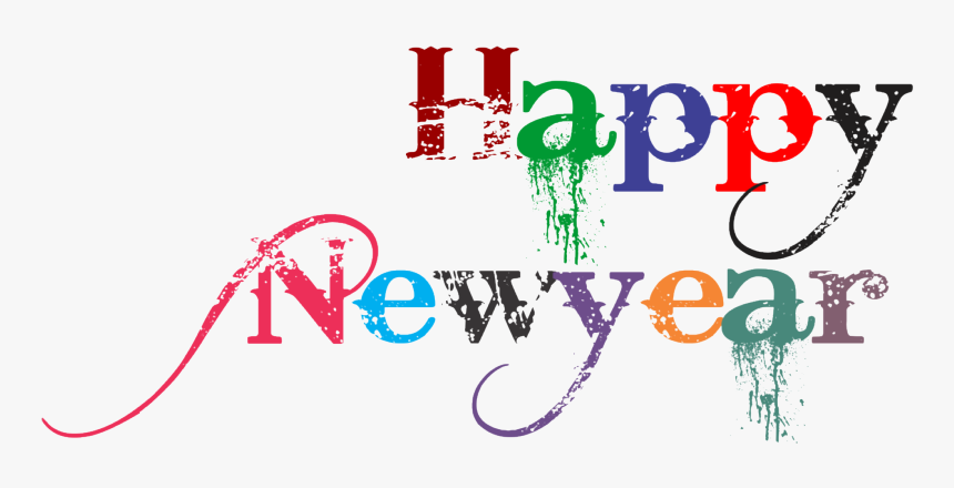 Happy New Year Png Free Image Download - Happy New Year Text Png Hd, Transparent Png, Free Download