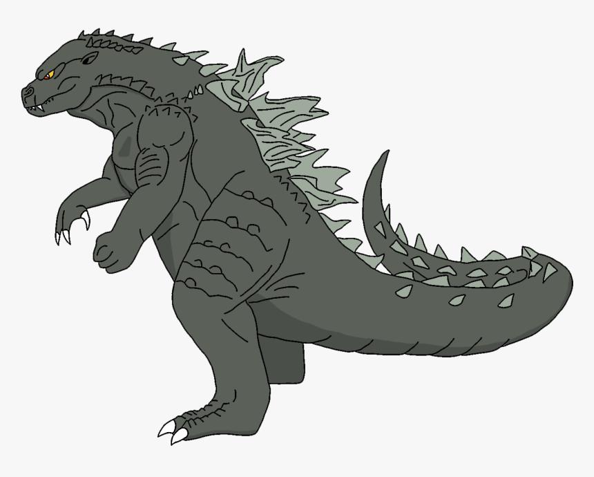 Godzilla Clipart Brunozillinhero - Kaiju Cartoon, HD Png Download, Free Download