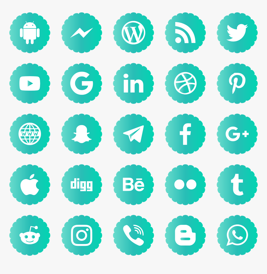 Download Social Media Icons Svg Eps Png Psd Ai Vector - Social Media Vector Icons 2019, Transparent Png, Free Download