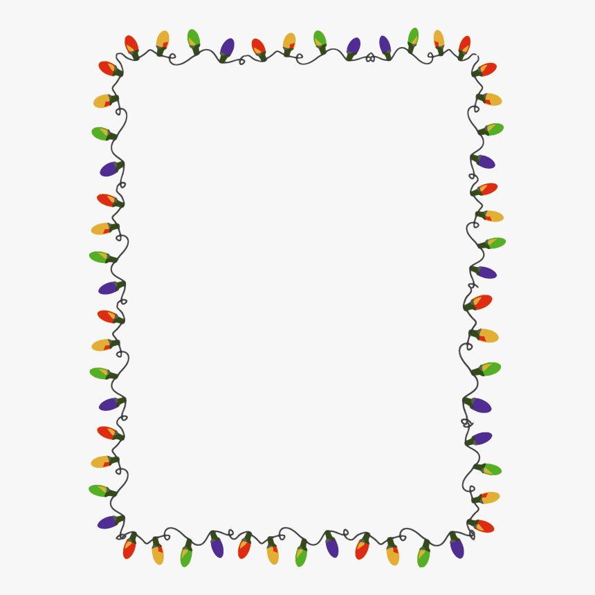 Christmas Lights Border Png Transparent Image - Christmas Lights Border, Png Download, Free Download
