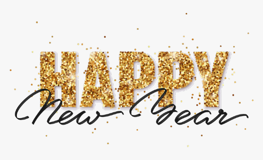 Transparent Happy New Year Png Images - Gold New Years Clip Art, Png Download, Free Download
