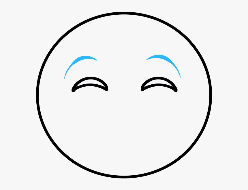 How To Draw Crying Laughing Emoji - Circle, HD Png Download, Free Download