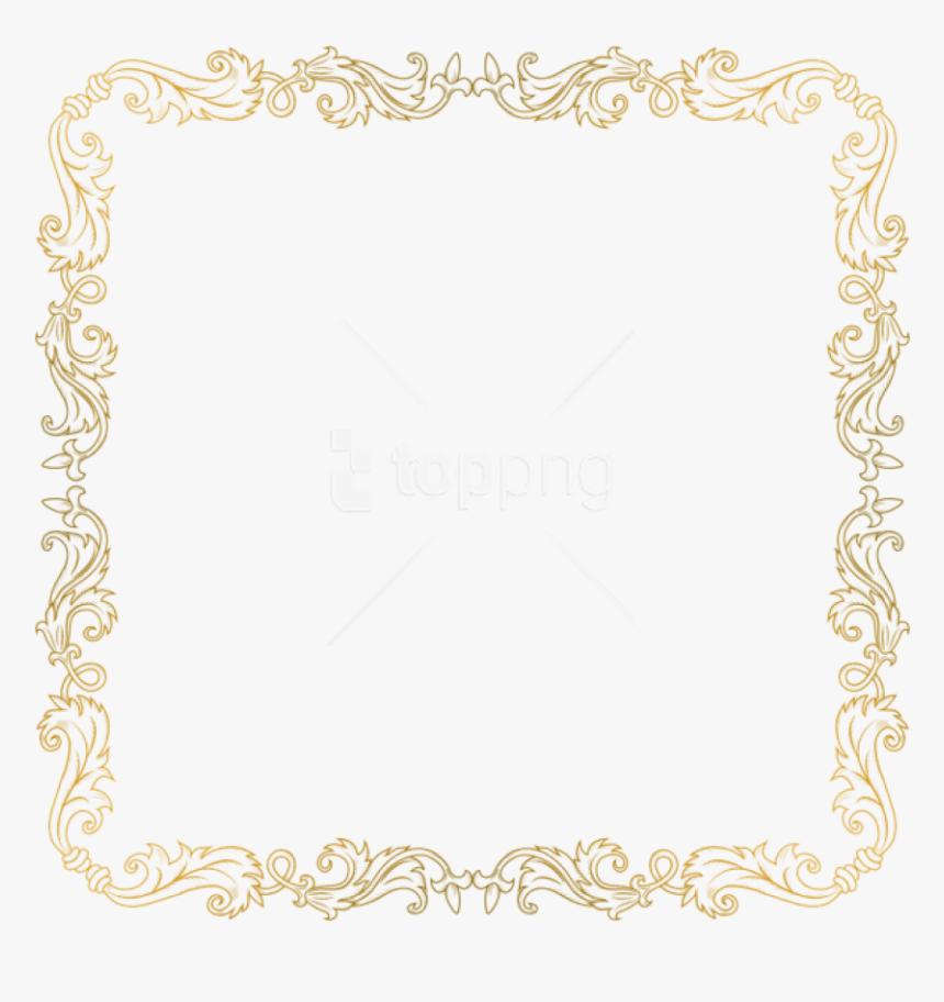 Free Png Golden Border Png Images Transparent - Transparent Background Gold Borders Png, Png Download, Free Download