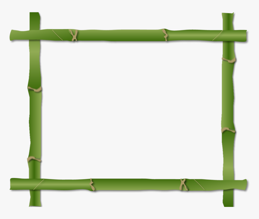 Borders And Frames Clip Art Flower Boarder - Bamboo Frame Clipart Png, Transparent Png, Free Download
