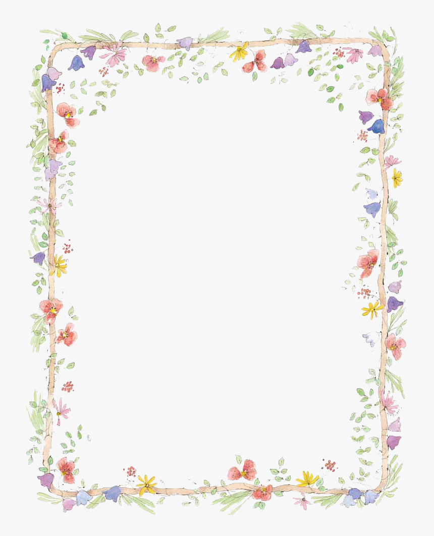 Flowers Borders Download Png - Flower Frame Png, Transparent Png, Free Download