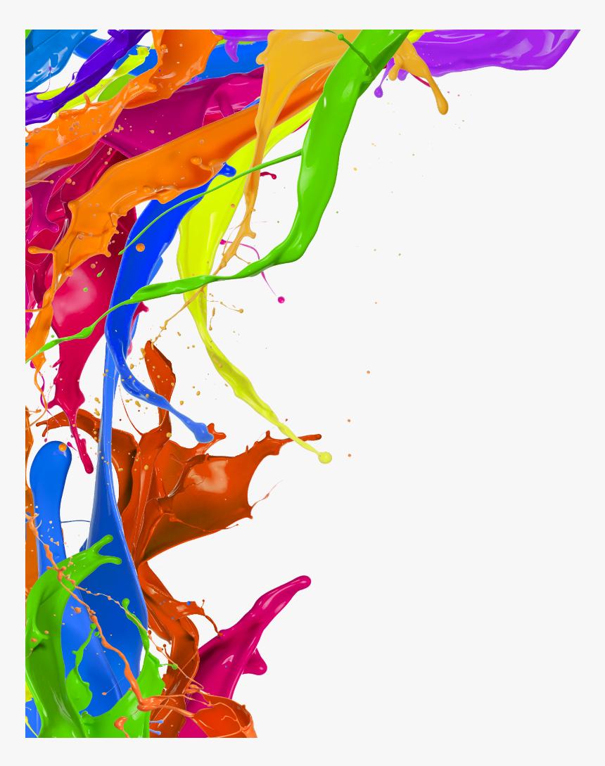 Transparent Paint Border Png - Colour Splash Frame Png, Png Download, Free Download
