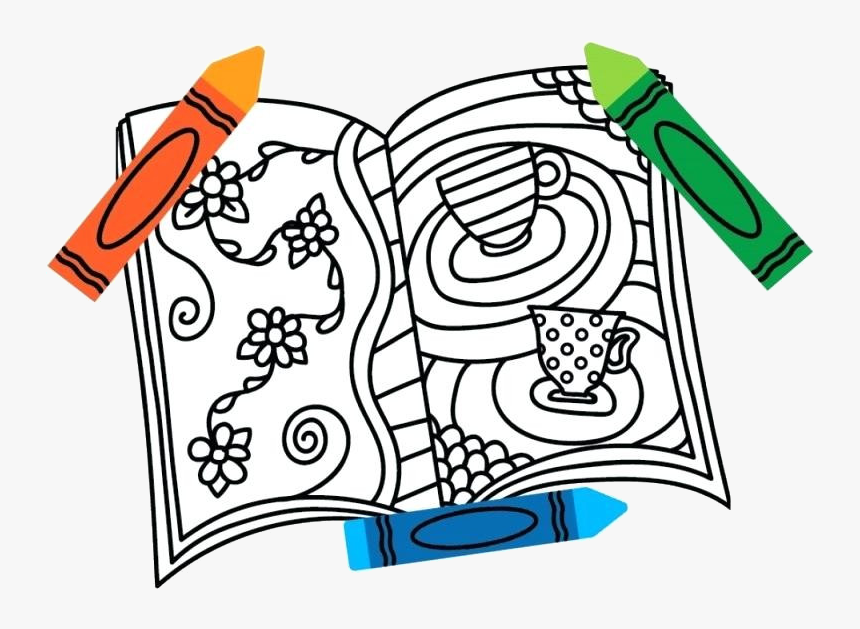 gray crayon x coloring book cute books