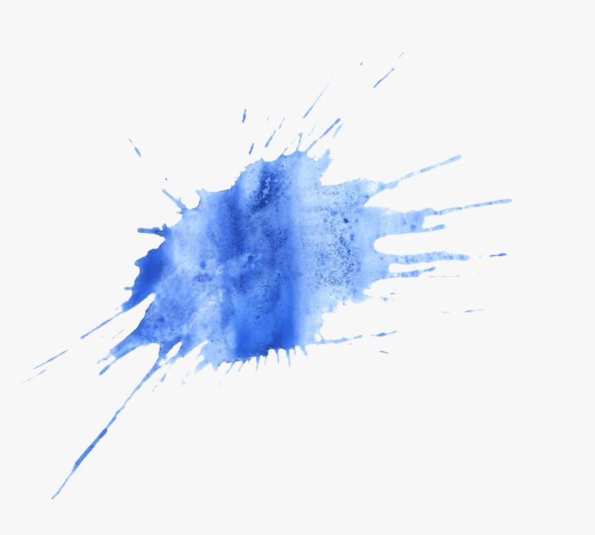Transparent Background Blue Paint Splatter, HD Png Download, Free Download