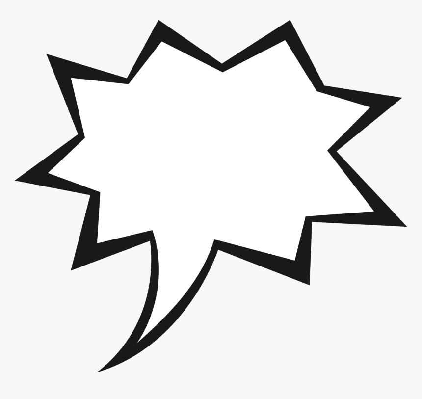 Cartoon Text Bubble - Comic Book Speech Bubble Transparent, HD Png Download, Free Download