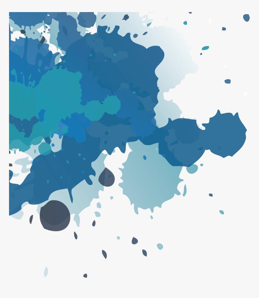 Transparent Splash Colors Png - Paint Splatter Png Blue, Png Download, Free Download
