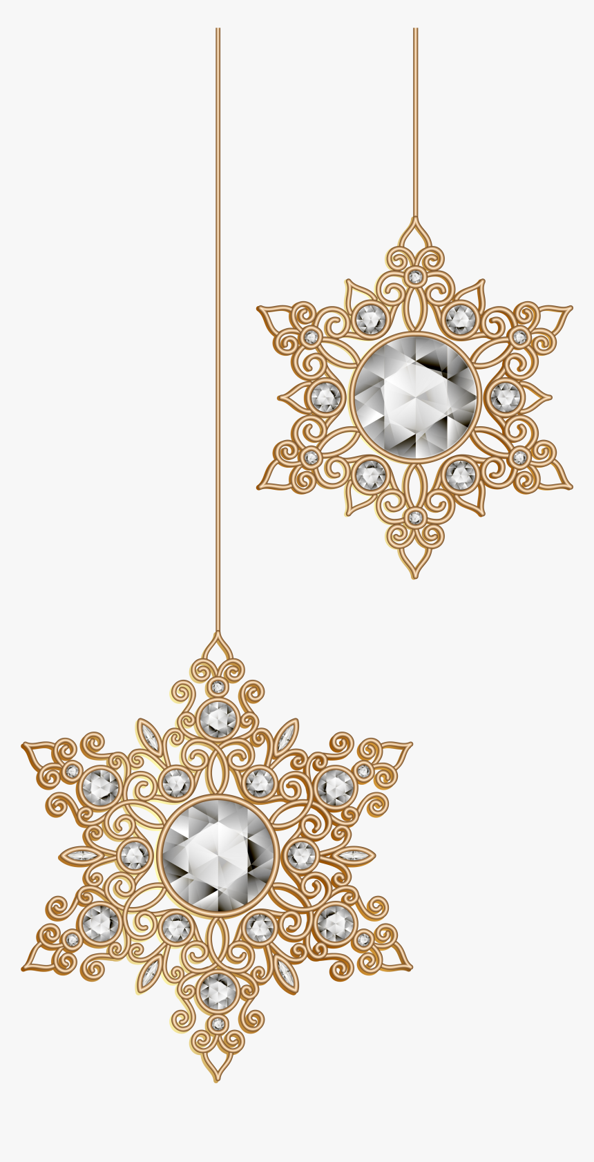Christmas Snowflakes Ornaments Png Clip Art Image - Christmas Star Ornament Clipart, Transparent Png, Free Download