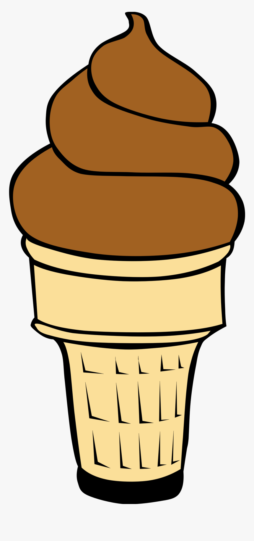 Empty Ice Cream Cone Clipart Free Clipart Images - Chocolate Ice Cream Cone Clip Art, HD Png Download, Free Download