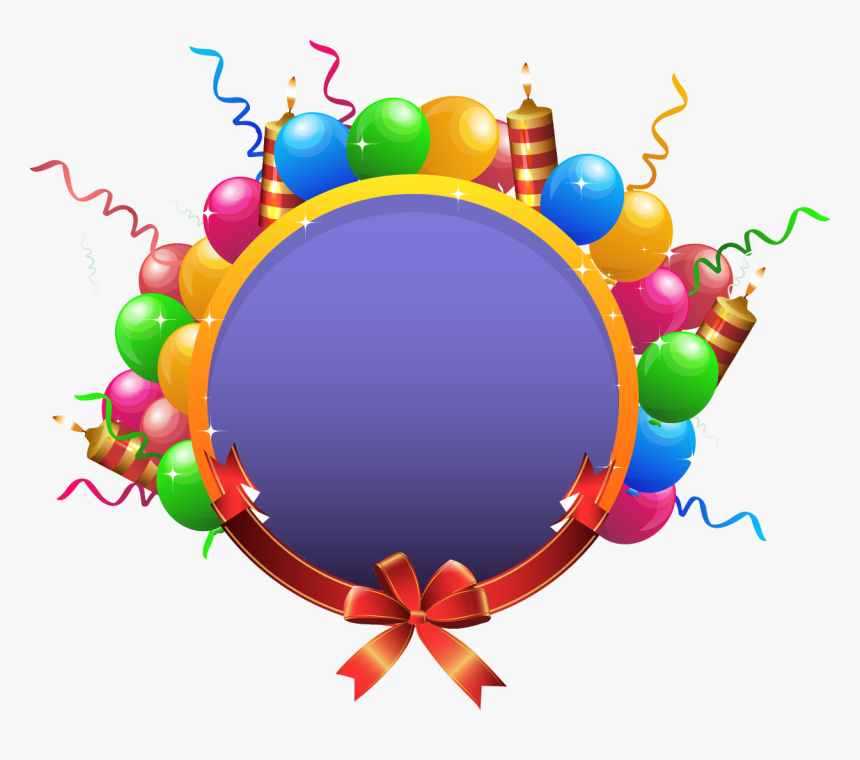 Vector Transparent Balloon Birthday Party Clip, HD Png Download, Free Download