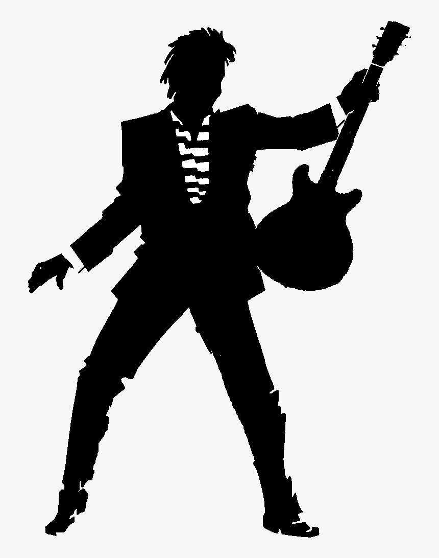 Guitarist Silhouette Png, Transparent Png, Free Download