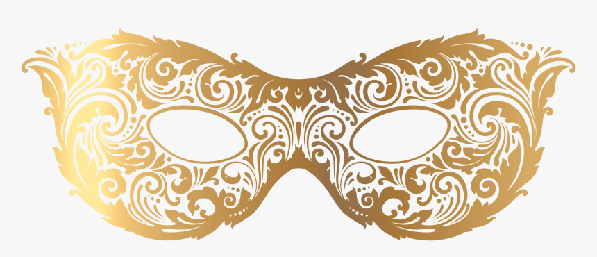 Gold Carnival Mask, HD Png Download, Free Download