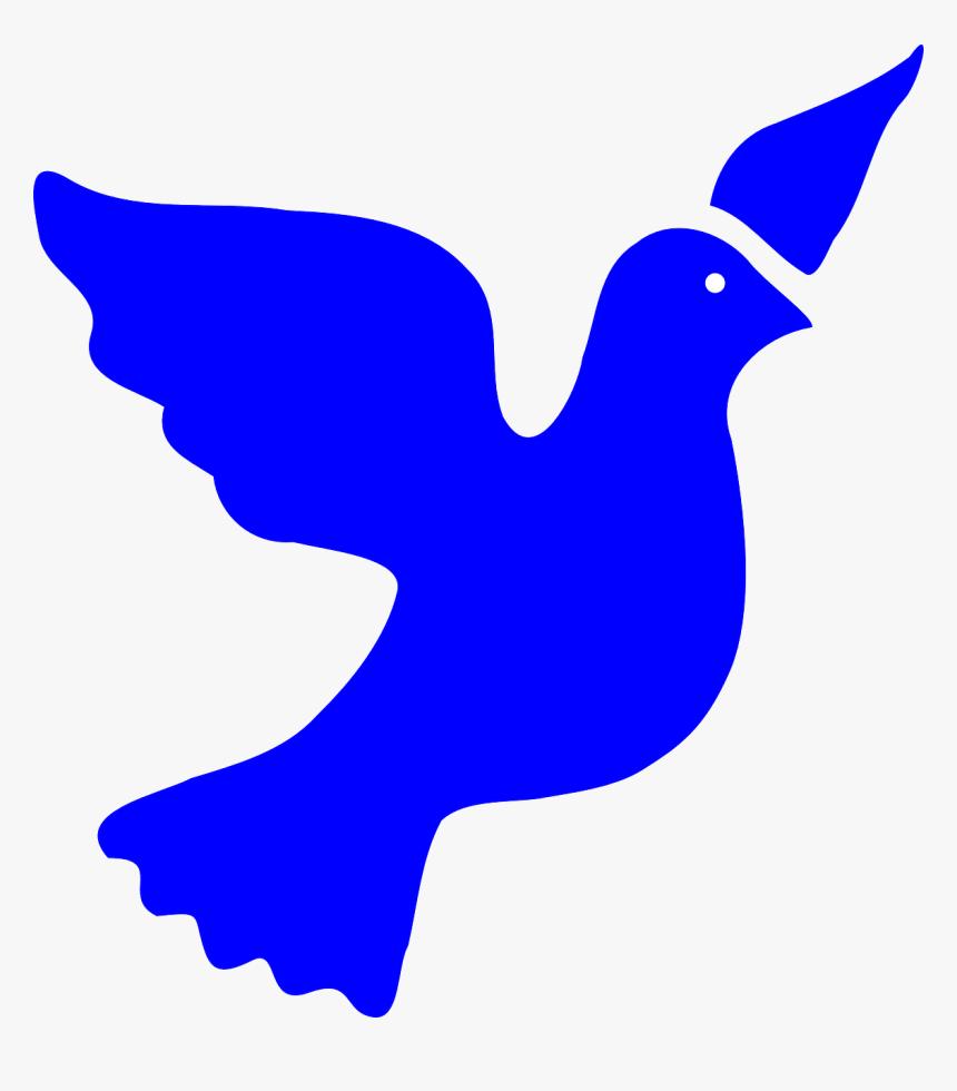 Blue Peace Dove Svg Clip Arts - Cross Dove Clip Art Blue, HD Png Download, Free Download