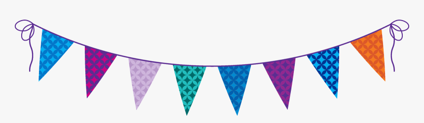 Birthday Party Flags Png, Transparent Png, Free Download