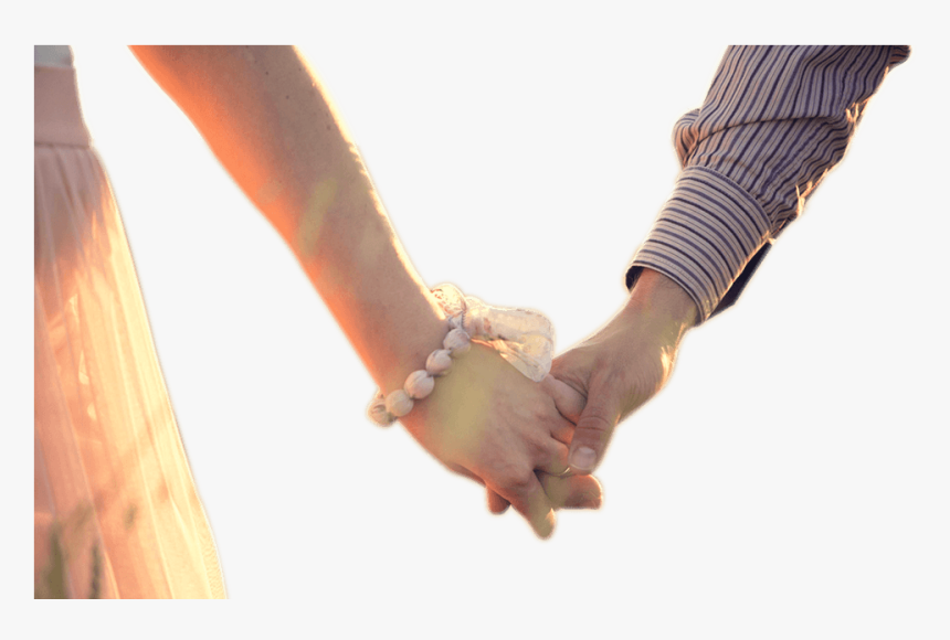 Couple Holding Hands Png Png Black And White - Couple Holding 2 Hands, Transparent Png, Free Download