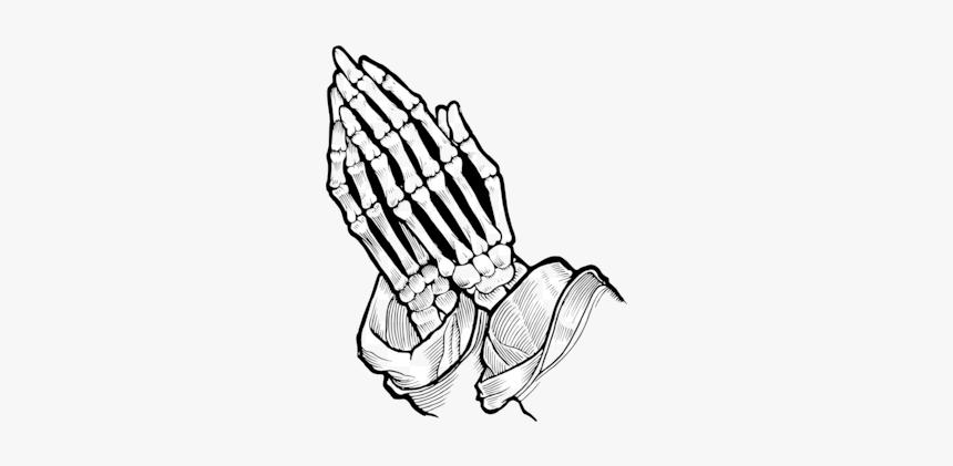 Praying Hands Christian Clip Art Prayer Silhouette - Praying Skeleton Hands, HD Png Download, Free Download
