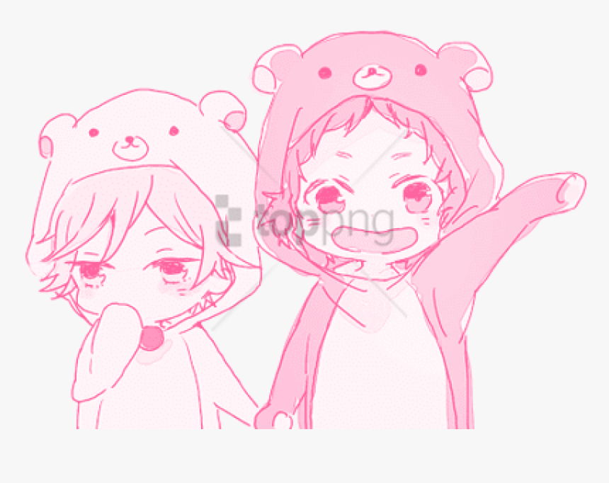 Holding Hands Clipart Couple - Anime Holding Hands Couple, HD Png Download, Free Download