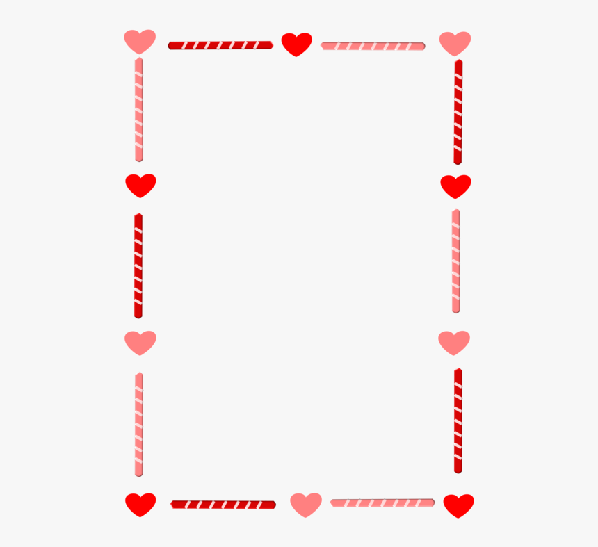 Borders Drawing Valentines Day - Valentines Day Border Clip Art, HD Png Download, Free Download