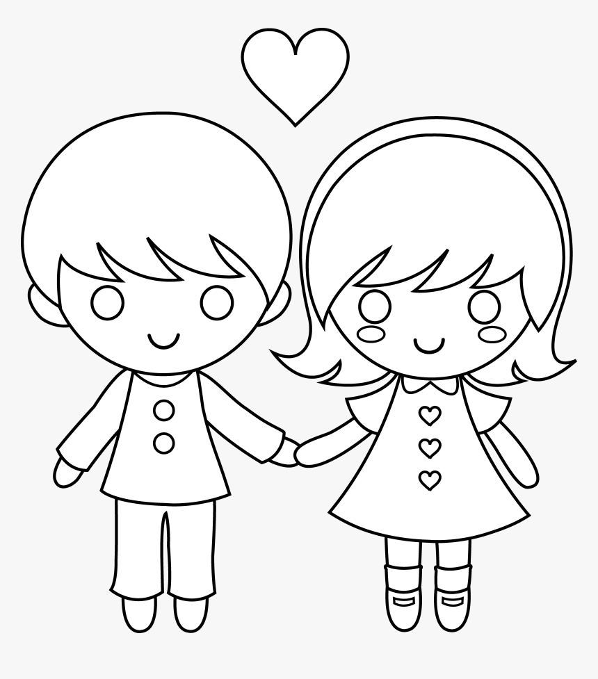 Png Of Class Holding Hands - Boy And Girl Holding Hands, Transparent Png, Free Download