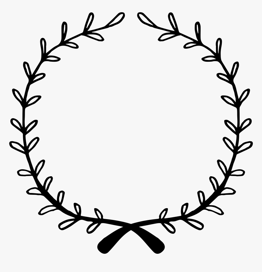 Easy Flower Wreath Drawing Clipart Png Download Floral Wreath Svg Free Transparent Png Kindpng