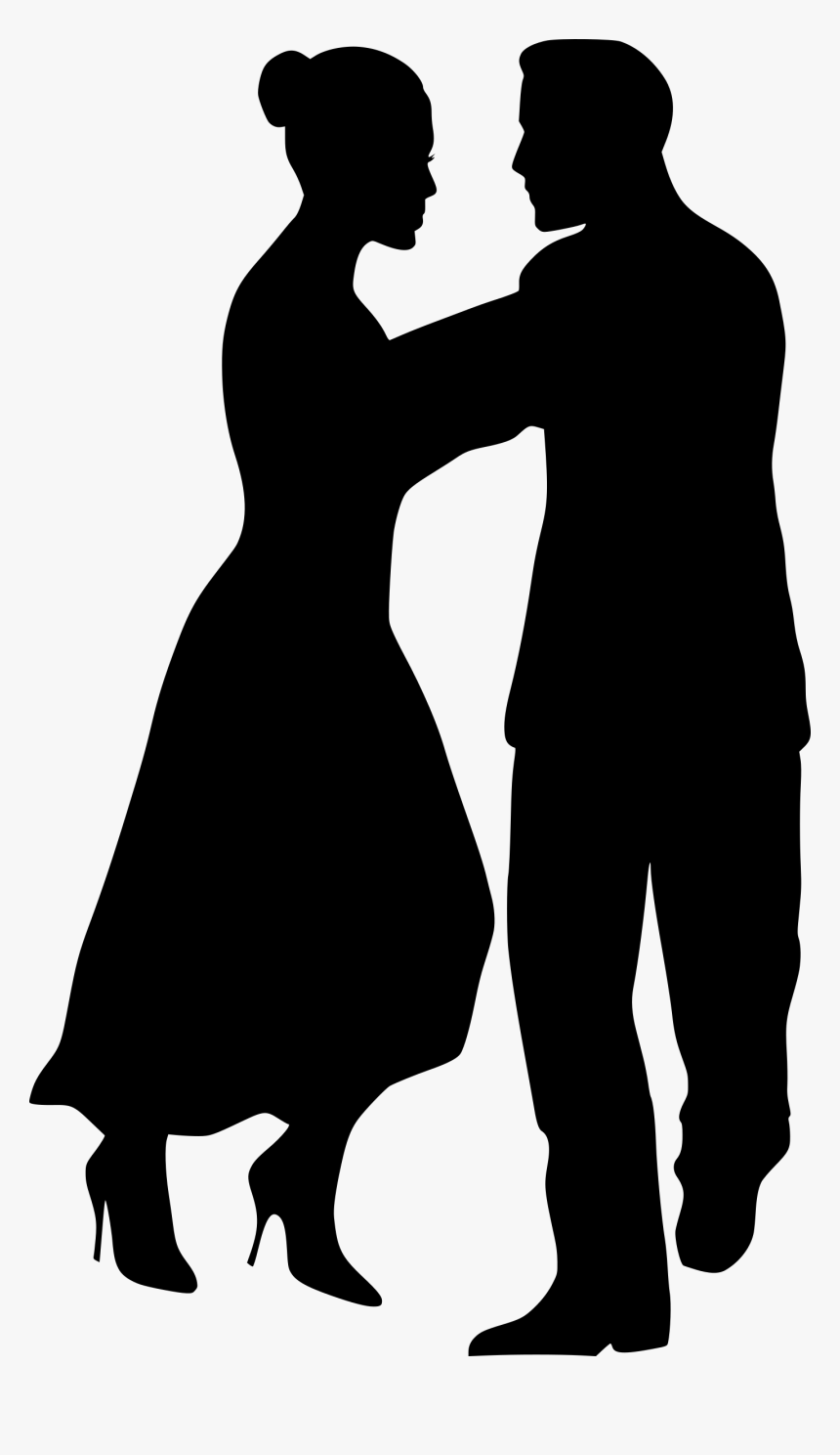 Dancing Couple 4 Clip Arts - Silhouette Clipart Dance Couple, HD Png Download, Free Download