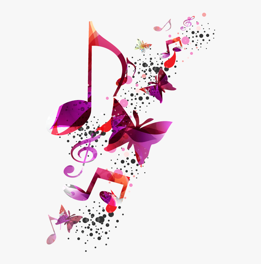 Color Vector Music - Colourful Musical Notes Png, Transparent Png, Free Download