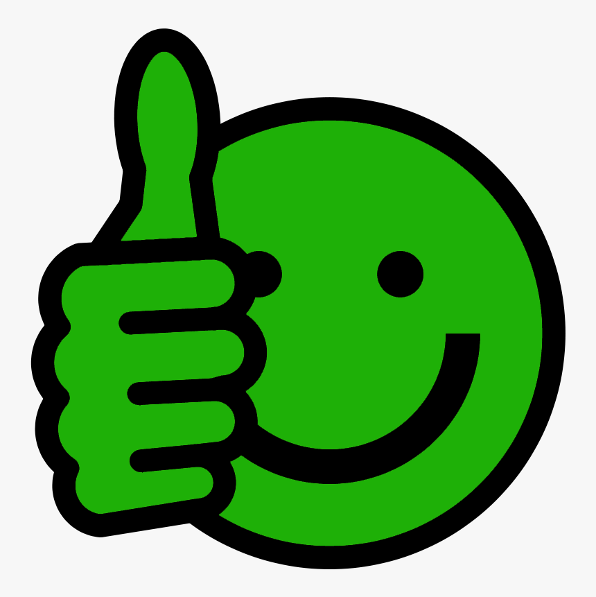 Good Thumb Up - Green Thumbs Up Emoji, HD Png Download, Free Download