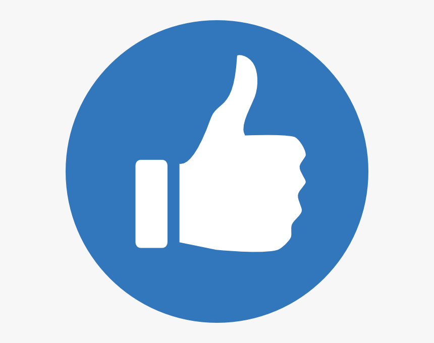 Up Clip Thumb - Thumbs Up Clipart Blue, HD Png Download, Free Download