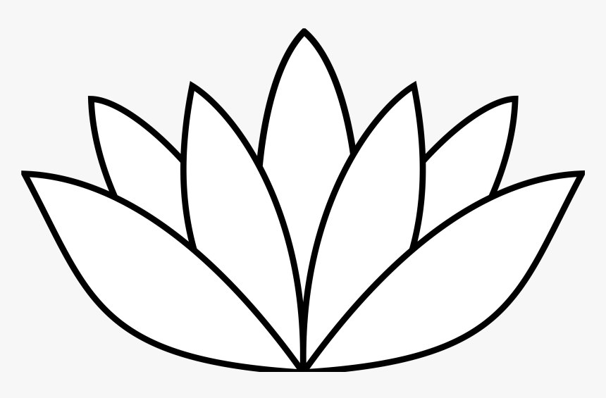 Lotus Flower Png Black And White - Lotus Flower Clipart, Transparent Png, Free Download