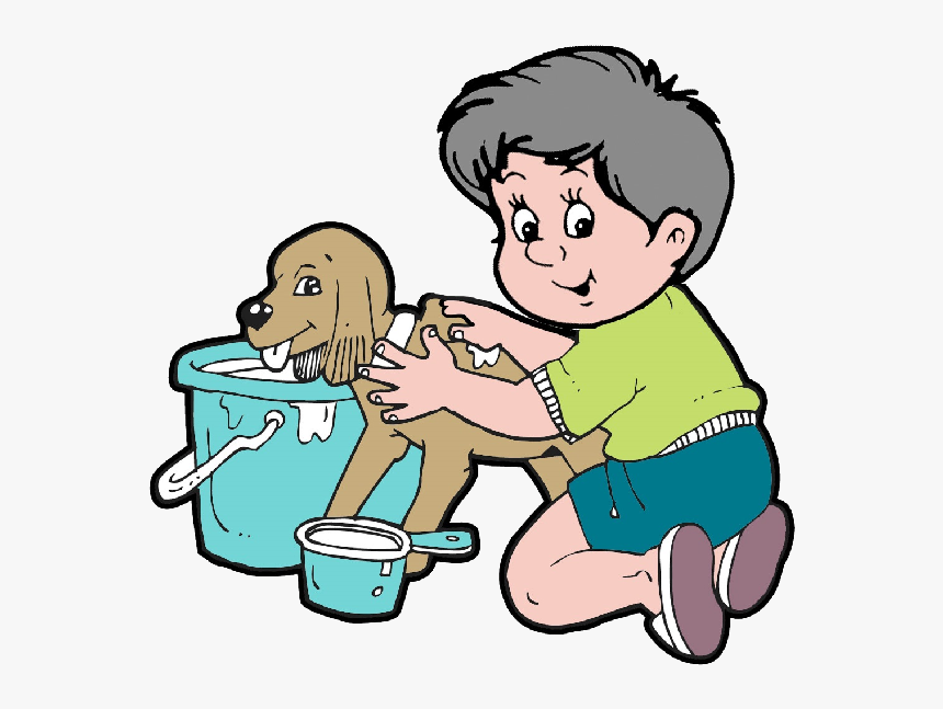 Animal Grooming Animals Homepage - Bathing The Dog Clipart, HD Png Download, Free Download