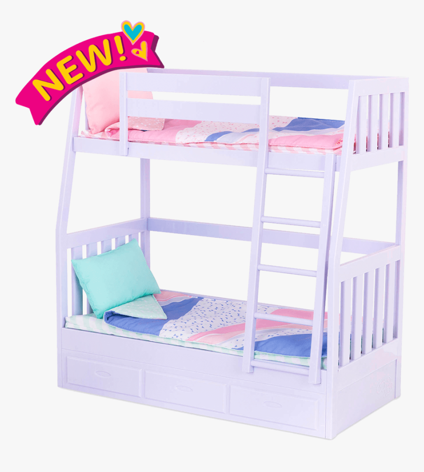 Doll Bunk Beds For 18-inch Dolls - Our Generation Bed, HD Png Download, Free Download