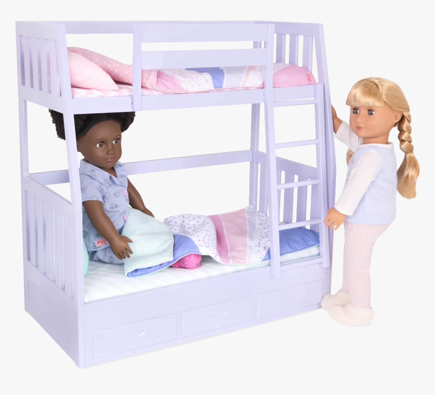 Gloria And Jovie Dolls In Bed - Our Generation Dream Bunk Beds, HD Png Download, Free Download