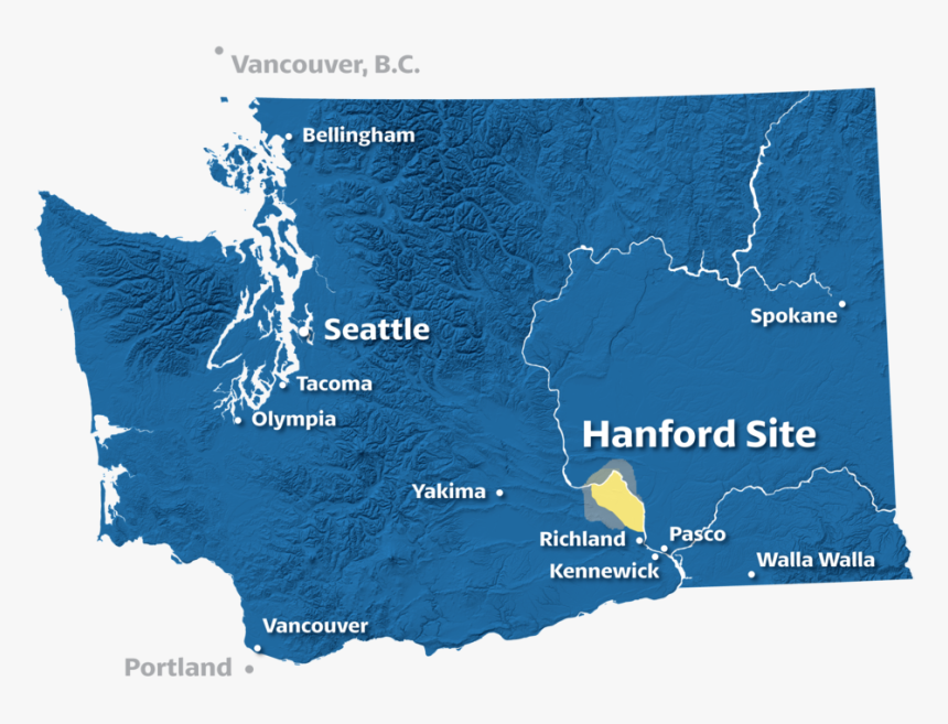 Hc Wa Map All-cities - Washington State Outline Png, Transparent Png, Free Download