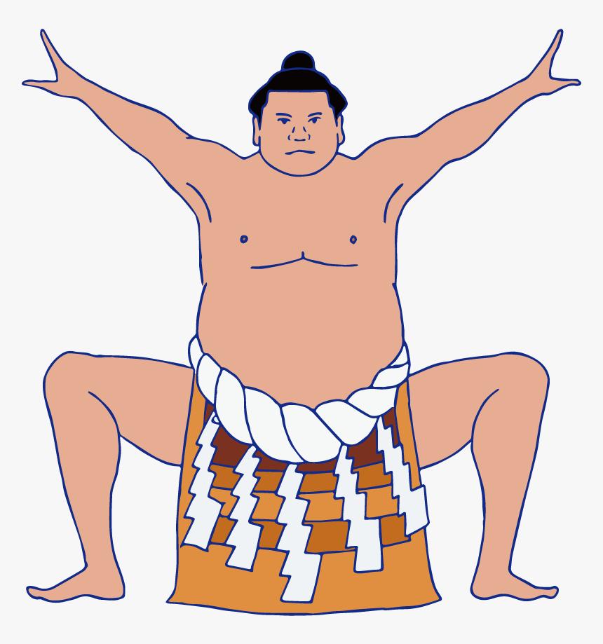 Transparent Sumo Wrestler Clipart - Cartoon, HD Png Download, Free Download